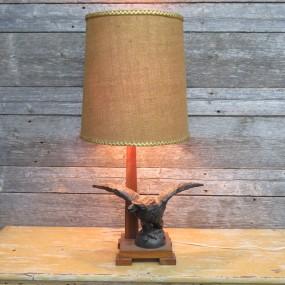 Lampe avec aigle en métal