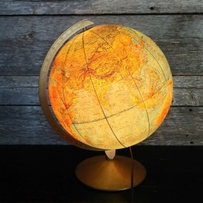 Lampe, globe terrestre