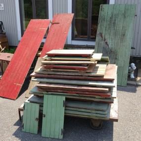 Lot of old wooden doors