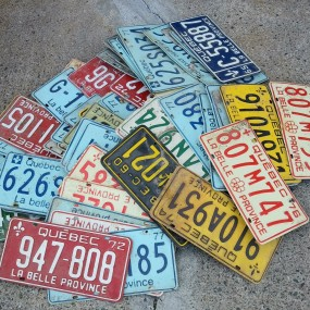 Lot de plaques d'immatriculation