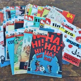 Lot de plusieurs bandes-dessinées Tintin, livres