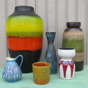 Lot de vases, poteries West Germany