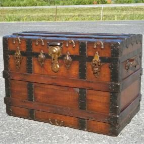 Antique restored trunk