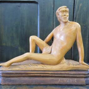 #35037 - 115$ Sculpture art populaire, signée A. Lavoie