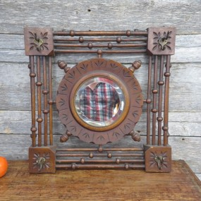 Rack holder with mirror