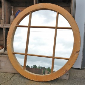 Miroir, création à partir d'un ancien châssis