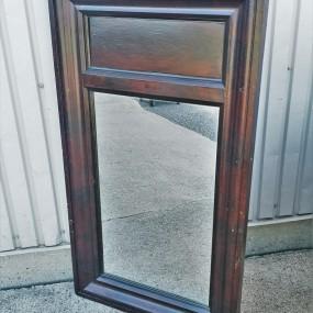 Miroir en pin, faux-fini d'origine