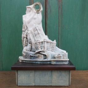 Oeuvre d'art contemporaine, sculpture, céramique signée Jozef Stefanka
