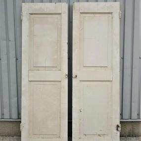 Paire de portes d'armoire, double caissons soulevés