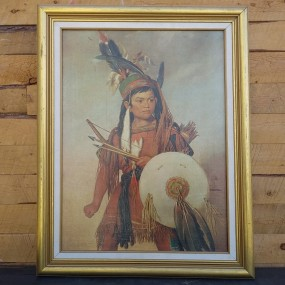 American native print painting