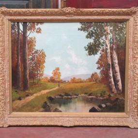 Peinture, tableau, huile sur toile
