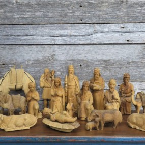 Christmas crib characters sculpture, carving