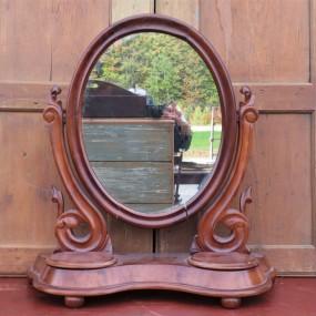 Petit miroir pivotant en noyer