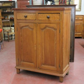 Little Louis XIV pine armoire, wooden pegs, cupboard