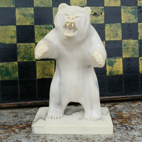 Petite sculpture en albâtre, ours
