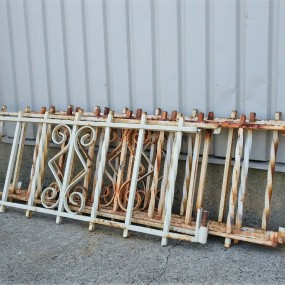 Iron fence sections