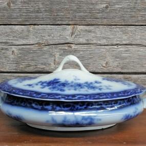 Plat de service à légume, vaisselle Flow Blue
