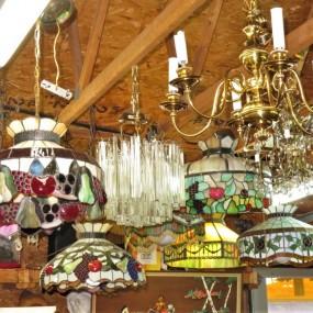 Lot of chandelier in store