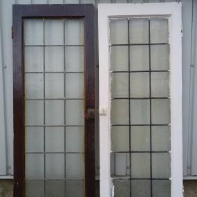 Portes avec vitres dans le plomb