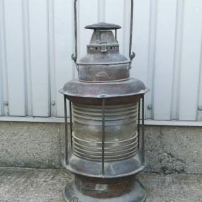 Rare fanal de bateau en cuivre, lanterne H. L. Piper, Montréal