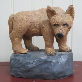 Armand Lavoie sculpture, folk art carving