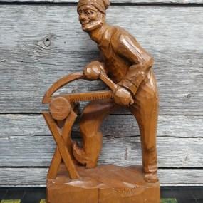 Folk art sculpture, St-Jean-Port-Joli carving