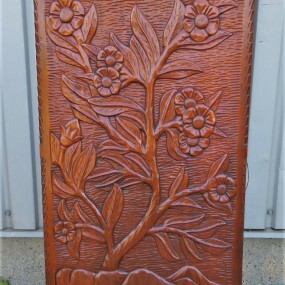Wooden carving, low relief