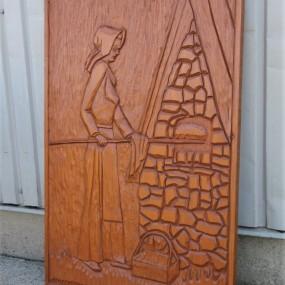 Folk art carving, sculpture