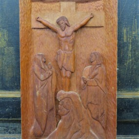 Wooden carving, religious sculpture