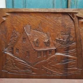 St-Jean-Port-Joli low-relief sculpture, carving