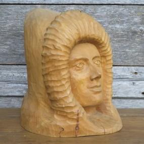 Folk art wooden carving, sculpture by J-Guy White