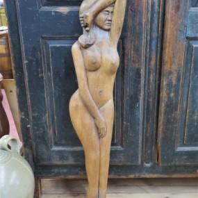 Sculpture signée, art populaire