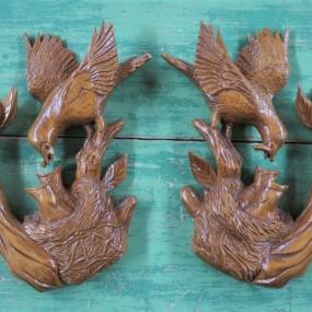 Sculptures avec oiseaux