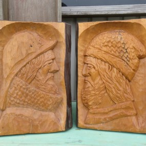 Low relief sculpture, carving by Morency