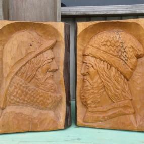 Sculptures, bas-relief signés Morency
