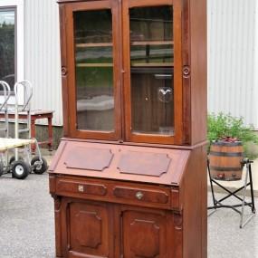 Walnut bookcase desk