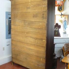 Antique pine cupboard with original color