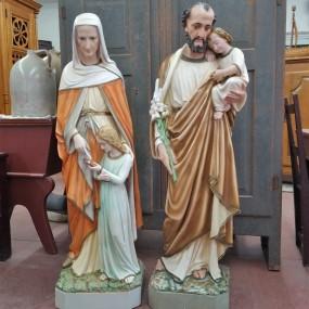 Statues religieuses en plâtre ( St-Joseph vendu)