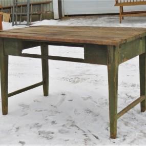 Table à entretoise en H, tel que trouvée (idéal comme projet de restauration)