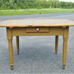 Rustic one drawer table