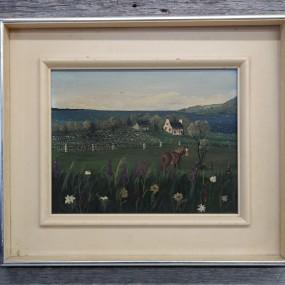 Tableau, huile sur toile, peinture signée Kapelier
