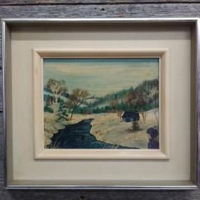 Tableau, huile sur toile signée Kapelier