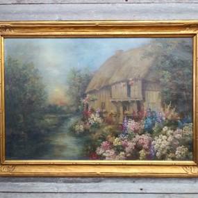 Tableau, peinture, huile sur toile