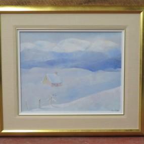 Tableau signé Reine Ouellette, peinture, huile sur toile