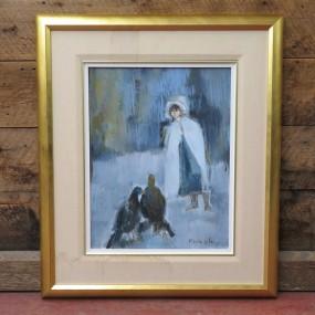 Tableau signée Marie Laberge, peinture, huile sur toile