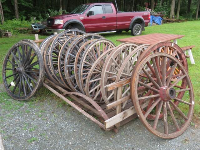 Nouvel arrivage de roues de voiture à chevaux 1