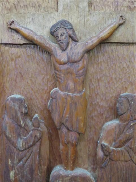 Sculpture bas-relief avec Christ 2