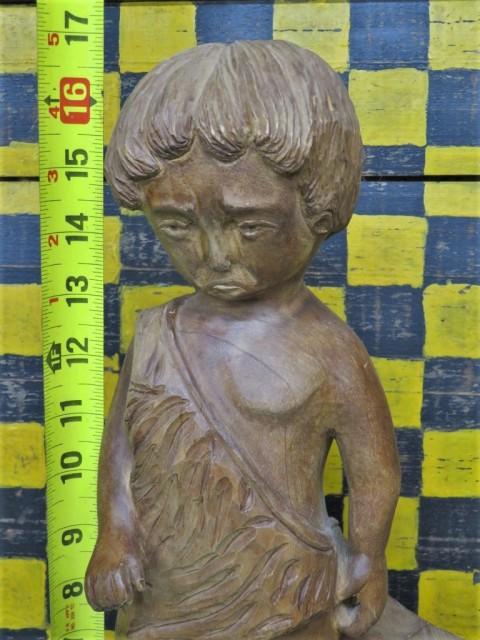 Sculpture en bois signée Lynn, art populaire 6