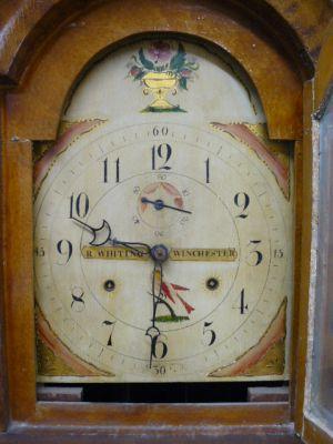 Magnifique horloge grand-père R. Whiting Winchester 2