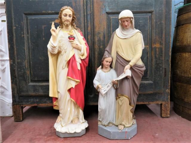 Statues religieuses en plâtre 1